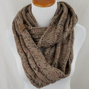 121ed5f50 C.C Accessories | C C Exclusives Taupe Flecked Infinity Scarf | Poshmark